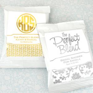 Metallic Foil Coffee Favors (White) image