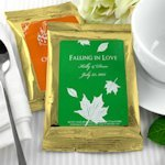 Gold Personalized Wedding Coffee Favor Bags (Many Designs)