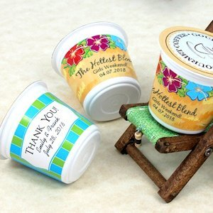 Personalized Beach Design K-Cup Coffee Favors (Many Designs) image