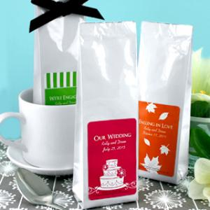 Gourmet Coffee Favors - Silhouette Collection (Tall Bag) image