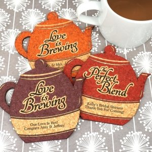 Personalized Tea Pot Cork Coaster image