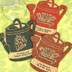 Personalized Watering Can Cork Coaster image