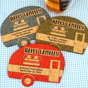 Personalized Camper Cork Coaster image