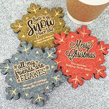 Personalized Snowflake Cork Coaster image