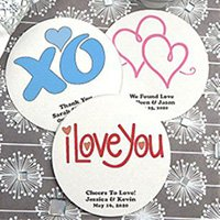 Personalized Round Paper Board Coasters image