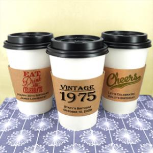 Adult Birthday Insulated Cup Sleeves image