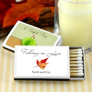 Falling in Love Personalized Autumn Matchboxes image