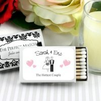 Personalized White Box Wedding Matches (Set of 50)