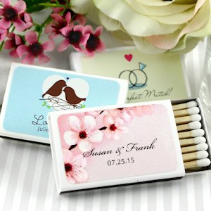 Spring Personalized Wedding Matchboxes (Set of 50) image