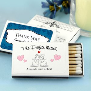 Winter Wedding Personalized Matchboxes (Set of 50) image