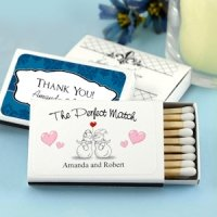 Winter Wedding Personalized Matchboxes (Set of 50)