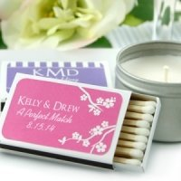 Personalized Matchbox Wedding Favors (Set of 50)