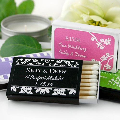 Personalized Beach Wedding Gifts: Personalized Matchbox Beach Wedding Party Favors (Set Of 50
