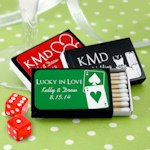 Vegas Personalized Wedding Black Matchboxes (Set of 50)