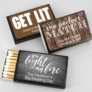 Perfect Match Personalized Matches - Set of 50 (Black Box) image