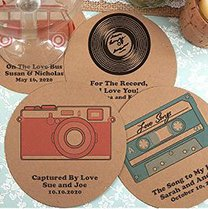 Personalized Kraft Paper Coasters image