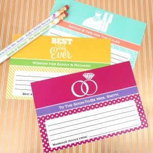 Bride and Groom Advice Cards (Set of 25) image