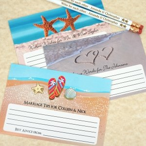 Beach Design Wedding Advice Cards (Set of 25) image