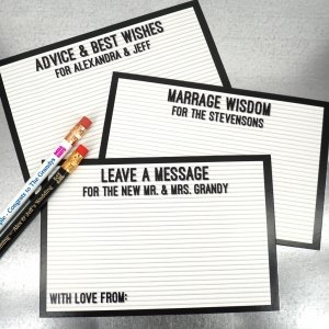 Letter Board Advice Cards (Set of 25) image