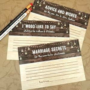Personalized Wood Sign Advice Cards (Set of 25) image