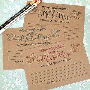 Rustic Kraft Advice Cards (Set of 25) image