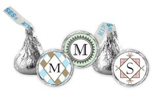 Monogram Hershey Kiss Favors (30 Designs) image