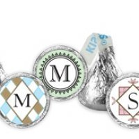 Monogram Hershey Kiss Favors (30 Designs)