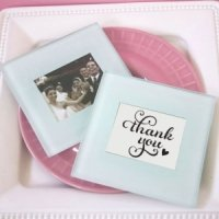 Classic Glass Photo Coaster Wedding Favors