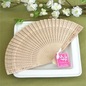 Sandalwood Fans - Gift Boxed Fan Wedding Favors image
