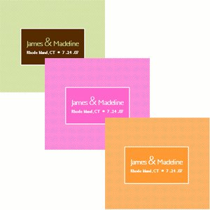Modern Custom Wedding Stickers (Set of 8) image