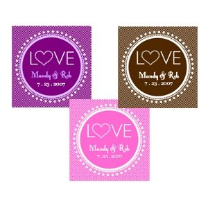 Love Personalized Wedding Tags and Labels (Set of 20) image