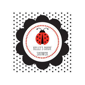 Ladybug Personalized Square Tags image