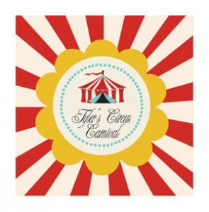 Circus Carnival Party Personalized Favor Tags image