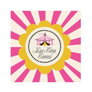 Pink Circus Party Personalized Favor Tags image