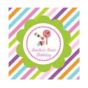 Sweet Shoppe Party Personalized Favor Tags image