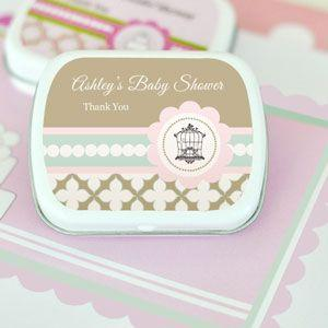 Birdcage Party Personalized Mint Tins image