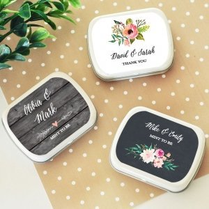 Personalized Floral Garden Mint Tins image