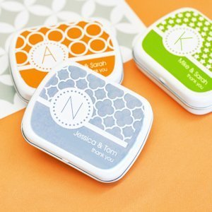 MOD Pattern Monogram Mint Tin Party Favors image