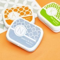 MOD Pattern Monogram Mint Tin Party Favors