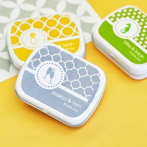 MOD Pattern Personalized Wedding Mint Tins image