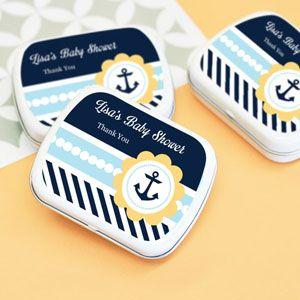 Nautical Baby Shower Personalized Mint Tins image
