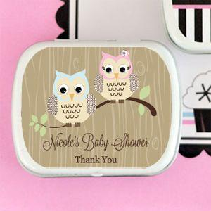 Woodland Owl Personalized Mint Tins image