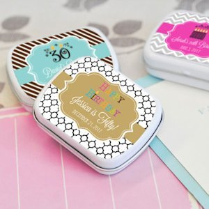 Birthday Designs Personalized Mint Tin Favors image