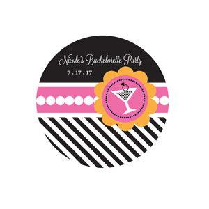 Bachelorette Party Personalized Round Labels image