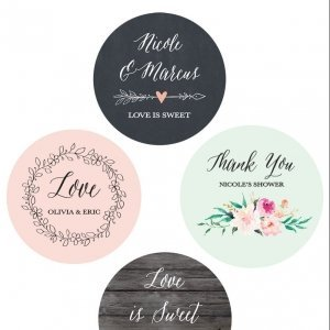 Personalized Floral Garden Round Labels image