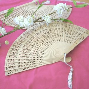 Carved Sandalwood Fan Favors image