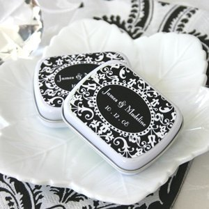 Damask Wedding Favor Mint Tins image