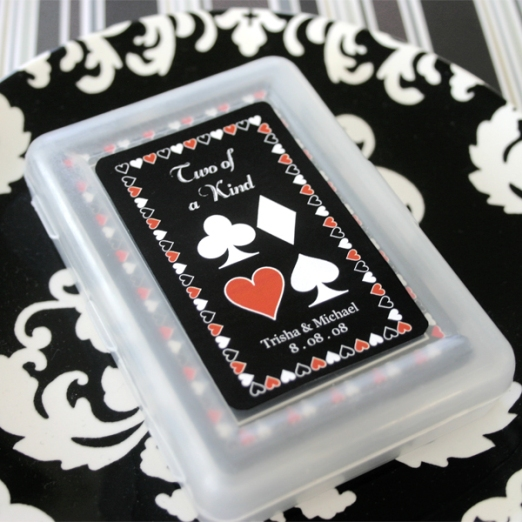 Playing Card Wedding Favors Image Samples Shown