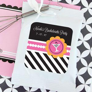 Bachelorette Party Personalized Hot Cocoa + Optional Heart W image