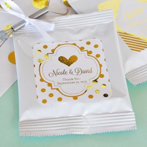 Personalized Metallic Foil Wedding Hot Cocoa Favors image
